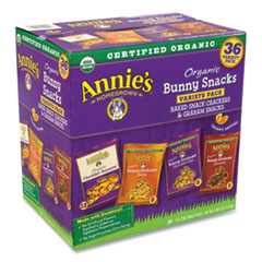 Annie's Homegrown Organic Bunny Snacks Variety Pack, Assorted Flavors, 38 - 1 oz Packs/Carton, Free Delivery in 1-4 Business Days