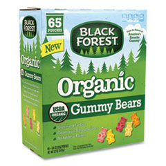 Black Forest® Organic Gummy Bears, 0.8 oz Pouch, 65 Pouches/Carton, Free Delivery in 1-4 Business Days