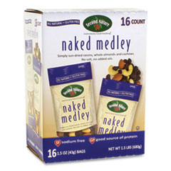 Second Nature® Naked Medley Trail Mix, 1.5 oz Bag, 16 Bags/Box, Free Delivery in 1-4 Business Days