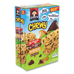 Quaker® Granola Bars, Chewy Chocolate Chip, 0.84 oz Bar, 60 Bars/Box, Free Delivery in 1-4 Business Days