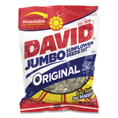 DAVID® Jumbo Seeds Original, 5.25 oz Resealable Bag, 12/Carton, Free Delivery in 1-4 Business Days