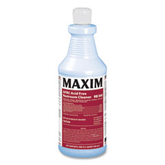 Maxim® AFBC Acid Free Restroom Cleaner, Fresh Scent, 32 oz Bottle, 12/Carton