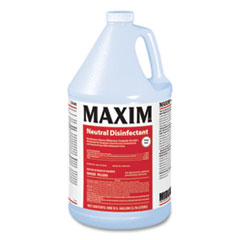 Maxim® Neutral Disinfectant, Lemon Scent, 1 gal Bottle, 4/Carton