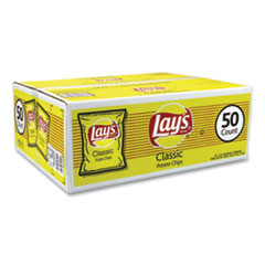 Lay's® Regular Potato Chips, 1 oz Bag, 50/Carton, Free Delivery in 1-4 Business Days
