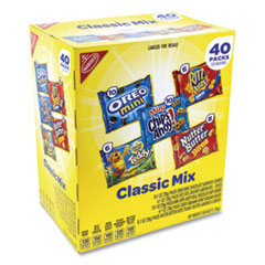 Nabisco® Cookie and Cracker Classic Mix, Assorted Flavors, 1 oz Pack, 40 Packs/Box, Free Delivery in 1-4 Business Days