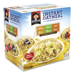 Quaker® Instant Oatmeal, Assorted Varieties, 1.51 oz Envelope, 52/Carton, Free Delivery in 1-4 Business Days