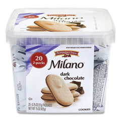 Pepperidge Farm® Milano Dark Chocolate Cookies, 0.75 oz Pack, 20 Packs/Box, Free Delivery in 1-4 Business Days