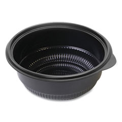 "Anchor Packaging MicroRaves Incredi-Bowl Base, 16 oz, 6"" dia x 1.75""h, Black, 250/Carton"