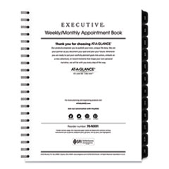 AT-A-GLANCE® Executive Weekly/Monthly Planner Refill, 15-Minute, 11 x 8.25, 2022