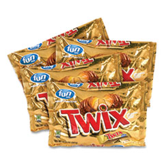 Twix® Cookie Bars, Fun Size, 10.83 oz Bag, 4 Bags/Box, Free Delivery in 1-4 Business Days