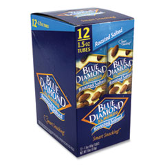 Blue Diamond® Roasted Salted Almonds, 1.5 oz Tube, 12 Tubes/Carton, Free Delivery in 1-4 Business Days