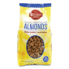 Wellsley Farms™ Roasted and Salted Almonds, 2.5 lb Bag, 1 Bag/Carton, Free Delivery in 1-4 Business Days