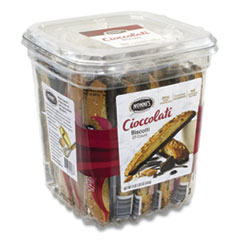 Nonni's® Biscotti, Dark Chocolate Almond, 0.85 oz Individually Wrapped, 25/Pack, Free Delivery in 1-4 Business Days