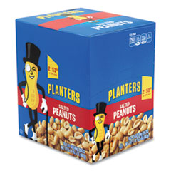 Planters® Salted Peanuts, 1.75 oz Pack, 18 Packs/Box, Free Delivery in 1-4 Business Days