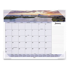 AT-A-GLANCE® Images of the Sea Monthly Desk Pad Calendar, 22 x 17, 2021