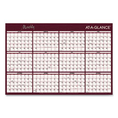 AT-A-GLANCE® Reversible Horizontal Erasable Wall Planner, 48 x 32, 2022