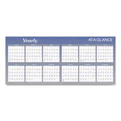 AT-A-GLANCE® Large Horizontal Erasable Wall Planner, 48 x 32, White/Blue, 2021