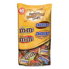 MARS Peanut and Peanut Butter Lovers Variety Mix, 60 Pieces, 35.04 oz Bag, 2 Bags/Pack, Free Delivery in 1-4 Business Days