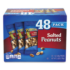 Planters® Salted Peanuts, 1 oz Pack, 48/Box, Free Delivery in 1-4 Business Days