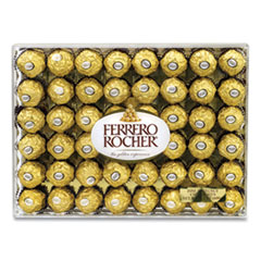 FERRERO ROCHER Hazelnut Chocolate Diamond Gift Box, 21.2 oz, 48 Pieces, Free Delivery in 1-4 Business Days