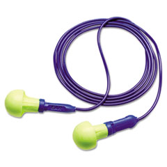 3M™ E·A·R Push-Ins Earplugs, Corded, 28NRR, Yellow/Blue, 100 Pairs
