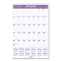AT-A-GLANCE® Monthly Wall Calendar with Ruled Daily Blocks