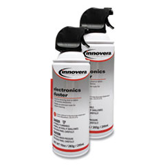 Innovera® Compressed Air Duster Cleaner, 10 oz Can, 2/Pack