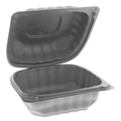 Pactiv EarthChoice SmartLock Microwavable Hinged Lid Containers, 5.75 x 5.95 x 3.1, Black, 400/Carton