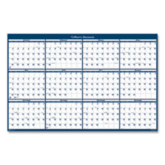House of Doolittle™ 100% Recycled Yearly Reversible Wall Calendar Non-Laminated, 24 x 37, 2021