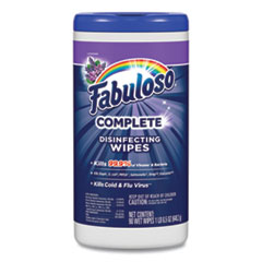 Fabuloso® Multi Purpose Wipes, Lavender, 7 x 7, 90/Canister, 4 Canisters/Carton