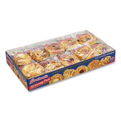 Svenhard's® Swedish Bakery Danish Assortment, Five Flavors, 2 oz Pack, 30 Packs/Box, Free Delivery in 1-4 Business Days