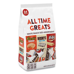 Hershey®'s All Time Greats White Variety Pack, Assorted, 32.6 oz Bag, 64 Pieces/Bag, Free Delivery in 1-4 Business Days