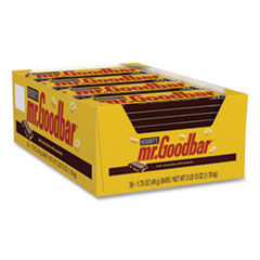 MR. GOODBAR Chocolate Candy Bar, 1.75 oz Bar, 36 Bars/Box, Free Delivery in 1-4 Business Days