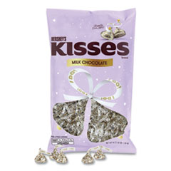 "Hershey®'s KISSES Wedding ""I Do"" Milk Chocolates, Gold Wrappers/Silver Hearts, 48 oz Bag, Free Delivery in 1-4 Business Days"