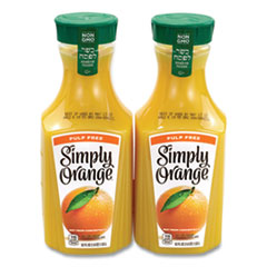Simply Orange® Orange Juice Pulp Free, 52 oz Bottle, 2/Pack, Free Delivery in 1-4 Business Days