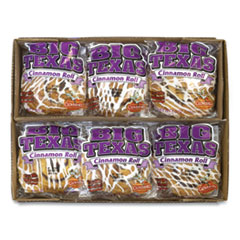 Cloverhill Bakery Big Texas Cinnamon Roll, 4 oz, 12/Box, Free Delivery in 1-4 Business Days