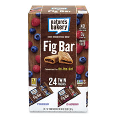 Nature's Bakery® Fig Bars Variety Pack, 2 oz Twin Pack, 24 Twin Packs/Box, Free Delivery in 1-4 Business Days
