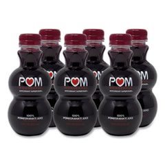 POM Wonderful 100% Pomegranate Juice, 12 oz Bottle, 6/Pack, Free Delivery in 1-4 Business Days