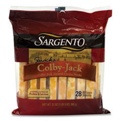 Sargento® Colby Jack Snack Sticks, 21 oz Pack, 28 Sticks/Pack, Free Delivery in 1-4 Business Days