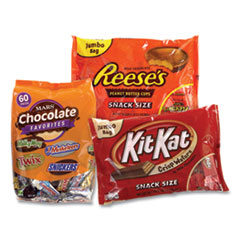 National Brand Chocolate Party Assortment, Mars Asst/Kit Kat/Reese's Peanut Butter Cups, 3 Bag Bundle, Free Delivery in 1-4 Business Days