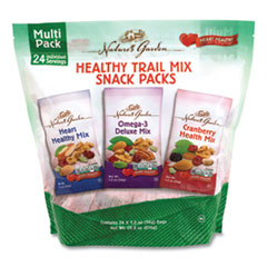 Nature's Garden Healthy Trail Mix Snack Packs, 1.2 oz Pouch, 24 Pouches/Box, Free Delivery in 1-4 Business Days