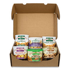 Snack Box Pros Premium Nut Box, Assorted Nuts, 7.5-8 oz Cans, 6 Cans/Carton, Free Delivery in 1-4 Business Days