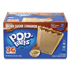 Kellogg's® Pop Tarts, Brown Sugar Cinnamon, 3.52 oz Pouch, 2 Tarts/Pouch, 6 Pouches/Pack, 3 PK/Box, Free Delivery in 1-4 Business Days
