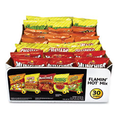 Frito-Lay Flamin' Hot Mix Variety Pack, Assorted Flavors, Assorted Size Bag, 30 Bags/Carton, Free Delivery in 1-4 Business Days
