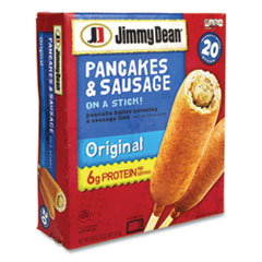 Jimmy Dean® Pancakes and Sausage on a Stick, 50 oz Box, 20/Box, Delivered in 1-4 Business Days