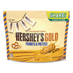 Hershey®'s GOLD Miniatures Pretzel and Peanuts Candy, 9.6 oz Bag, 2 Bags/Pack, Free Delivery in 1-4 Business Days