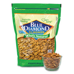 Blue Diamond® Whole Natural Almonds, 40 oz Resealable Bag, Free Delivery in 1-4 Business Days