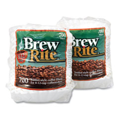 Brew Rite® Basket Coffee Filters, 8-12 Cups, 700/Bag, 2 Bags/Pack, Free Delivery in 1-4 Business Days