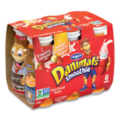 DANNON® Danimals Smoothies, Assorted Flavors, 3.1 oz Bottle, 6/Box, 6 Boxes/Carton, Free Delivery in 1-4 Business Days
