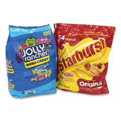 National Brand Chewy and Hard Candy Party Asst, Jolly Rancher/Starburst, 8.5 lbs Total, 2 Bag Bundle, Free Delivery in 1-4 Business Days
